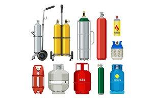 Gas cylinders. Butane helium