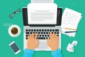 Writer Writing Document Vector