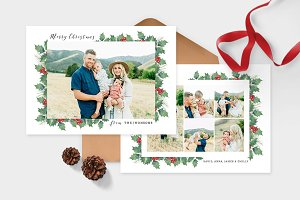 Christmas Photo Card Template -CD090