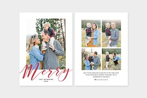 Christmas Photo Card Template -CD091