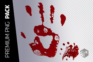 2 LAYERS – HAND IN BLOOD PNG PACK