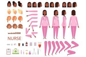Female doctor animation. Nurse