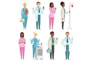 Medic characters. Hospital stuff