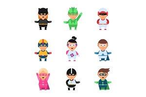 Little superheroes. Hero comic