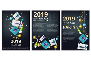 New year party brochure. Holiday