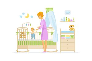 Mother with baby - illustration