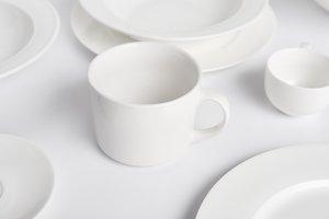selective focus of various plates, b