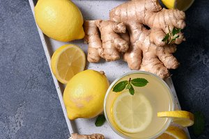 Ginger tea, healthy warming drink