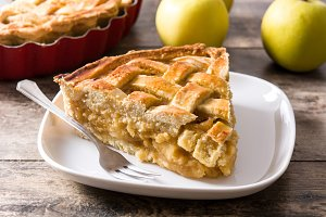 Homemade traditional apple pie