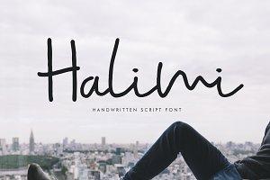 Halimi Signature Font