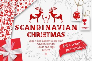 Scandinavian Christmas in red