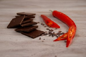 Chocolate and red pepper
