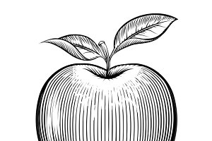 Engraving apple
