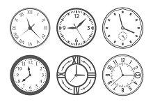 Wall clock icons