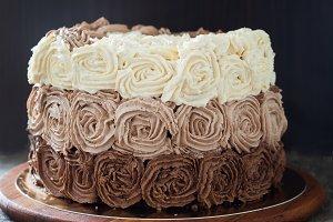 Birthday cake decorated with three c