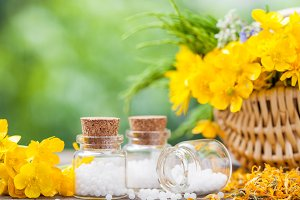 Homeopathy globules and herbs