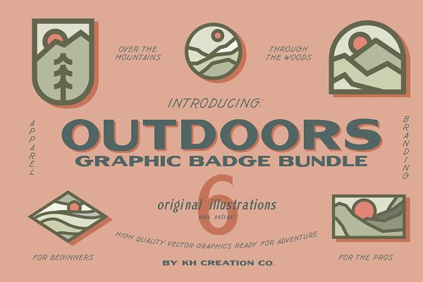 KH OUTDOORS GRAPHIC BADGE BUNDLE