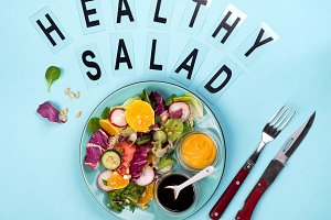 Fresh vegetables salad with various