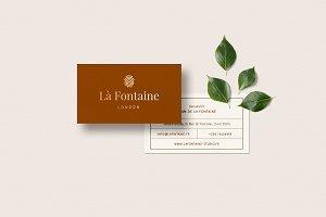 Business Card Template - La Fontaine