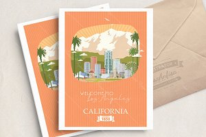 Los Angeles city. California vector