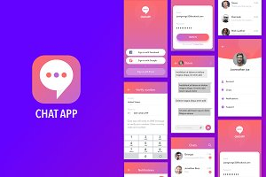 Simple Colourful Chat app for iOS