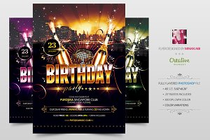 Birthday Party Flyer | Poster