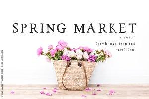 Spring Market - Rustic Font