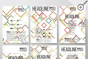 Abstract templates for brochure