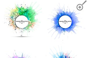 Abstract circle banners