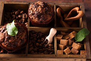 Spices, coffee and chocolate