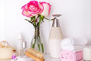 Composition with spa cosmetic and