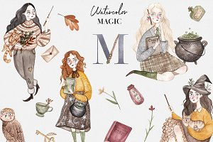 Watercolor Autumn Magic Collection