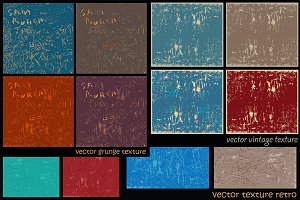Vintage and Grunge Texture Set