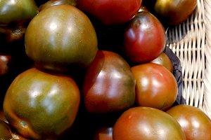 Ripe fresh organic tomatoes