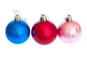 Three Christmas bauble