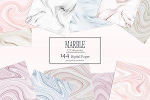 Marble Digital Paper 144 Textures