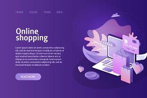 Online shopping landing