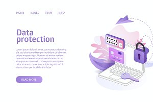 Data protection online security conc