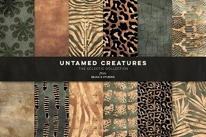 Untamed Creatures: Gold Animal Skins