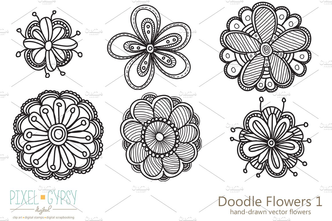 Free Whimsical Flower Silhouette Designs