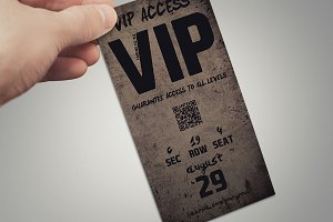 Grunge VIP PASS card