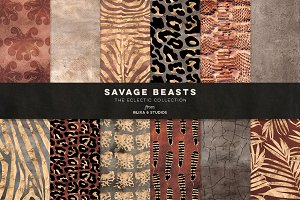 Savage Beasts: Golden Animal Prints
