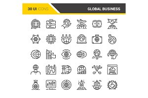 Global Business Icons