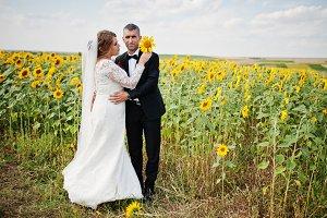Portrait of an amazing wedding coupl