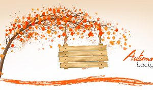 Autumn nature background. Vector