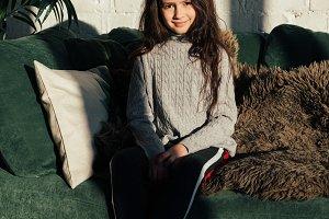 Lifestyle fashion portrait of child