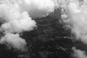 Moody Skies Billowing Clouds