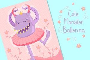 Cute Monster Ballerina