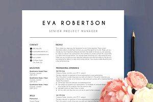 CV template 2 page EVA