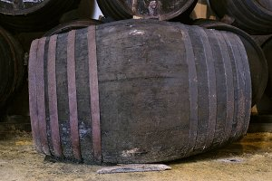 Barrel for wine or whiskey in winery
